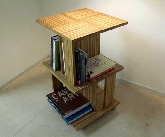 CQ houtbewerking boekenmolen